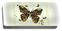 Portable Battery Charger featuring the painting Colorful Butterfly Collage by Deborah Smith