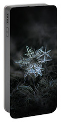 Portable Battery Charger featuring the photograph Snowflake Of 19 March 2013 by Alexey Kljatov