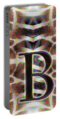 Monogram B Portable Battery Charger