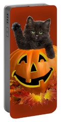 Pumpkin Kitty Portable Battery Charger