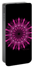 Ombre Pink Flower Mandala Portable Battery Charger