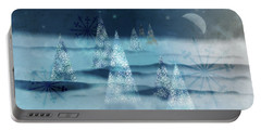 Winter Night Portable Battery Charger by AugenWerk Susann Serfezi