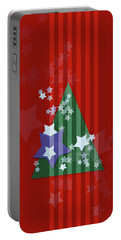 Stars And Stripes - Christmas Edition Portable Battery Charger by AugenWerk Susann Serfezi