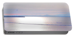 Lake Champlain South From Atop Battery Park Wall Panorama Portable Battery Charger