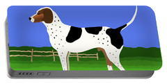 Portable Battery Charger featuring the painting German Shorthaired Pointer In A Field by Marian Cates