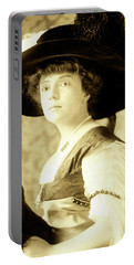 Portable Battery Charger featuring the photograph Vintage Lady With Lapdog by Marian Cates