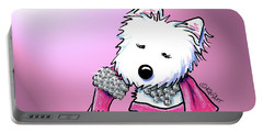 Kiniart Westie Glam Portable Battery Charger