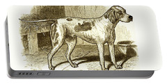 Portable Battery Charger featuring the painting Vintage Sepia German Shorthaired Pointer by Marian Cates