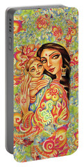 Goddess Blessing Portable Battery Charger by Eva Campbell