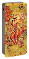 Ganges Flower Portable Battery Charger by Eva Campbell