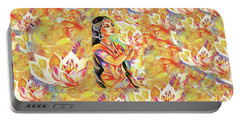 Pray Of The Lotus River Portable Battery Charger