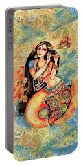 Aanandinii And The Fishes Portable Battery Charger by Eva Campbell
