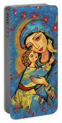 Mother Temple Portable Battery Charger by Eva Campbell