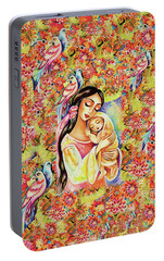 Portable Battery Charger featuring the painting Little Angel Dreaming by Eva Campbell