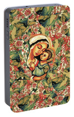 Portable Battery Charger featuring the painting The Blessed Mother by Eva Campbell