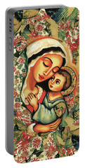 The Blessed Mother Portable Battery Charger by Eva Campbell