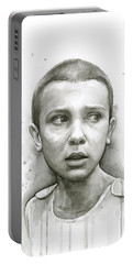 Stranger Things Eleven Upside Down Art Portrait Portable Battery Charger