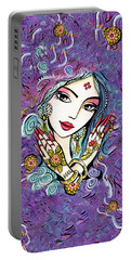 Hands Of India Portable Battery Charger by Eva Campbell