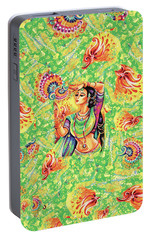 Portable Battery Charger featuring the painting The Dance Of Tara by Eva Campbell