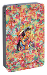 Portable Battery Charger featuring the painting Dancing Of The Phoenix by Eva Campbell