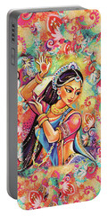 Dancing Of The Phoenix Portable Battery Charger by Eva Campbell