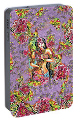 Portable Battery Charger featuring the painting Kuan Yin by Eva Campbell