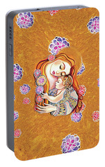 Portable Battery Charger featuring the painting Little Angel Sleeping by Eva Campbell
