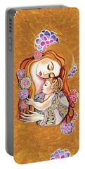 Little Angel Sleeping Portable Battery Charger by Eva Campbell