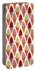 Soft Serve Pattern Portable Battery Charger