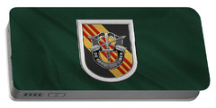 U. S.  Army 5th Special Forces Group Vietnam - 5 S F G  Beret Flash Over Green Beret Felt Portable Battery Charger