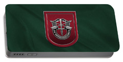 U. S.  Army 7th Special Forces Group - 7 S F G  Beret Flash Over Green Beret Felt Portable Battery Charger