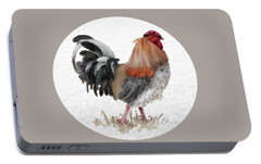 Portable Battery Charger featuring the digital art Barnyard Boss by Lois Bryan