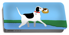 Cartoon Hero Hound Rescues Two Baby Birds Portable Battery Charger