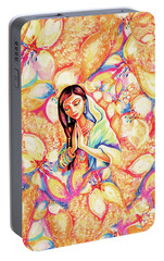 Portable Battery Charger featuring the painting Little Himalayan Pray by Eva Campbell