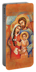The Holy Family Portable Battery Charger by Eva Campbell