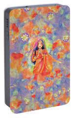 Portable Battery Charger featuring the painting Seashell Wish by Eva Campbell