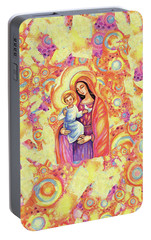Portable Battery Charger featuring the painting Blessing Of The Light by Eva Campbell