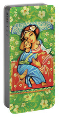 Madonna And Child Portable Battery Charger by Eva Campbell