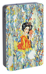Portable Battery Charger featuring the painting Harmony by Eva Campbell