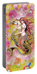 Black Sea Mermaid Portable Battery Charger by Eva Campbell