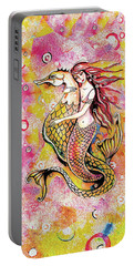 Black Sea Mermaid Portable Battery Charger