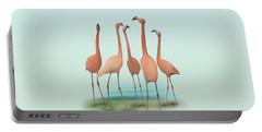 Flamingo Mingle Portable Battery Charger