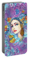 The Veil Of Aish Portable Battery Charger by Eva Campbell