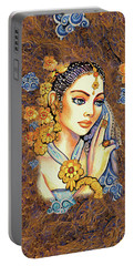 Portable Battery Charger featuring the painting Amari by Eva Campbell