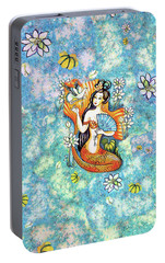 Portable Battery Charger featuring the painting A Letter From Far Away by Eva Campbell