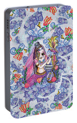 Portable Battery Charger featuring the painting Scheherazade's Bird by Eva Campbell