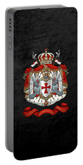 Knights Templar - Coat Of Arms Over Black Velvet Portable Battery Charger