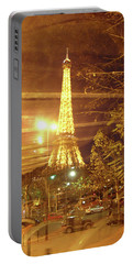 Eiffel Tower By Bus Tour Portable Battery Charger by Felipe Adan Lerma