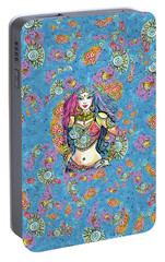 Portable Battery Charger featuring the painting Kali by Eva Campbell
