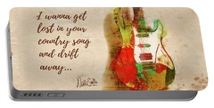 Portable Battery Charger featuring the digital art Drift Away Country by Nikki Marie Smith